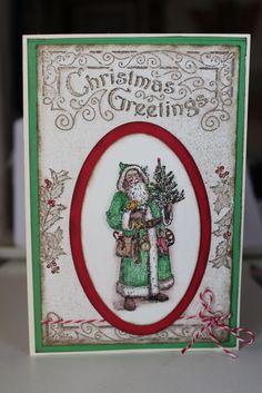 Le catalogue Automne Hiver 2016 2017 arrive en septembre, il est rempli de choses adorables. Personnellement j'ai eu le coup de coeur pour ce set de tampons Father Christmas un peu vintage, dont je vous propose ici deux interprétations. Mais il y en a...
