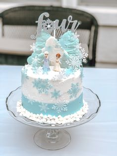 Frozen Themed Birthday Cake, Second Birthday Cakes, 5th Birthday, Birthday Party Themes, Frozen Cake, Frozen Party, Elsa Cakes, Frozen Wallpaper, Party Cakes