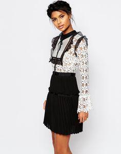 Image 1 - Self Portrait - Adeline - Robe plissée à lacets