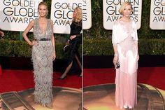 Top 10 Globo de Ouro 2016 - Franjas - Heidi Klum e Cate Blanchett (Foto: AFP)