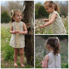 moda infantil- etsy -Vestido de lino- niña en Etsy