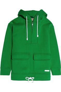 Burberry Brit|Scuba cotton-jersey hooded sweatshirt|NET-A-PORTER.COM