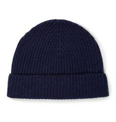 Sunspel Cashmere Wool Hat in Navy