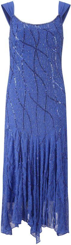 flapper dress - plus size art deco blue #flapper #gatsby