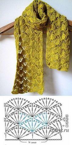 Inverno quentinho: 15 modelos de cachecol para inspirar Warm Winter: 15 Scarf Models to Inspire The post Warm Winter: 15 Scarf Models to Inspire appeared first on Pink Unicorn. Gilet Crochet, Crochet Scarves, Crochet Clothes, Knit Crochet, Crochet Blankets, Crochet Chart, Crochet Motif, Crochet Stitches, Free Crochet