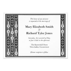 Tulip Flower Border Wedding Invitation hosted by the couple