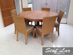 Stof Lar Decorações - Móveis em Madeira de Demolição : Mesa redonda com Cadeiras Amalf