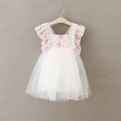 >> Click to Buy << Girls Wedding Dress Kids Floral Summer Princess Party Dresses Elegant Cute Flower Fairy Dress Childrens Belle Clothing #Affiliate