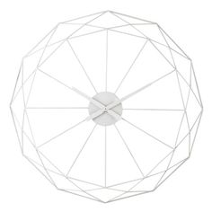 Wanduhr ORIGAMI aus Metall, D 80cm, weiß