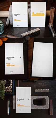 'I think you are more perfect than Helvetica' .. nerdy awesome wedding program. great letterpress.