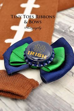 University of Notre Dame Football Leg by TinyToesRibbonsnBows
