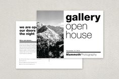 modern photographers postcard template