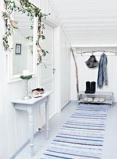 white christmas cottage