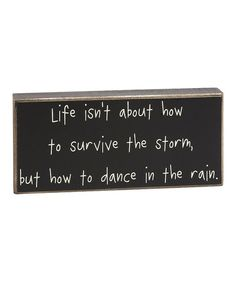 'Dance in the Rain' Box Sign