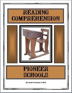 History and Language Arts combined!  Contains: two 1-page passages of informational text on Pioneer Schools and Teachers;  two pages of reading comprehension questions (one for each passage), and teacher's key.     CAN BE USED FOR A QUICK SAMPLE FOR CHARTER SCHOOLS, Independent Reading, Homework or Supplemental Homeschool Worksheet.  The passages can be used for CLOSE READING with other non-fiction graphic organizers!    7 pages $1.00 Grades 4-6 and homeschool