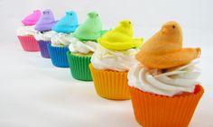 Peep cuppie cakes