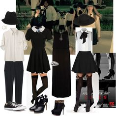 fashion on american horror story coven | fashion look from October 2013 featuring River Island dresses, Rag ...