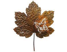 Cut leaf by Lorenzo Duran l #leafart #butterfly