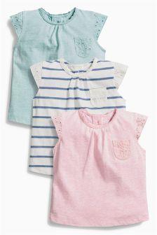 Next Stripe/Pink/Green T-Shirts Three Pack (0mths-2yrs) £12.50