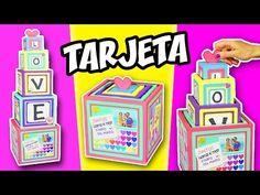 TARJETA TORRE DE CUBOS con Mensajes y Fotos - Regalo Original | Manualidades aPasos - YouTube