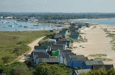 Mudeford Sandbank, near Christchurch Harbour, Dorset, which has stunning views to the Isle of Wight