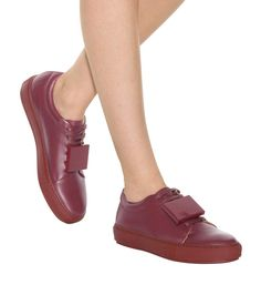 Adriana TurnUp burgundy leather sneakers