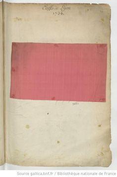 Etoffes de Lyon // 1736