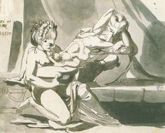 Fussli: Erotic scene of a man with two women, , Canvas on Stretcher, Framed Picture, Glass Print and Wall Paper. Love And Lust, Gay Art, Erotic Art, Art Reproductions, Picture Frames, Art Gallery, Scene, Fine Art, Art Prints