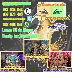 """Grupo Mascarada Carnaval: """"Mascarada en Carnaval"""" con la Reina infantil y de..."""