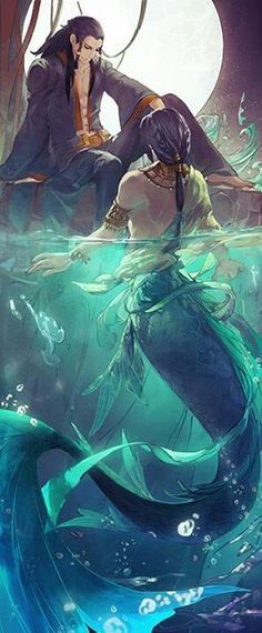 Merman possibly brothers and one decided to live on land instead of water. Magical Creatures, Fantasy Creatures, Sea Creatures, Fantasy World, Fantasy Art, Mermaids And Mermen, Real Mermaids, Merfolk, Fantasy Characters
