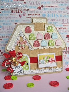 Scrappin Cookie: My Craft Spot Monday Challenge #119 - Merry & Bright Gingerbread House