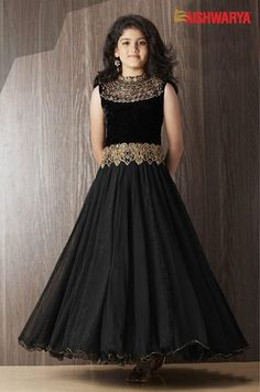 Black GOWN will always stay in vogue. Enjoy simplicity in a new style with ‪#‎Aishwarya‬'s lovely collection for 3-15 yrs old girls. Buy Designer Indian GOWN online: http://www.aishwaryadesignstudio.com/kids%20wear/19514-designer-black-party-gown.aspx