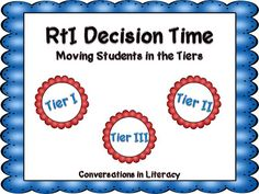 RtI Decisions: Understanding how one school uses data to move students through the tiers