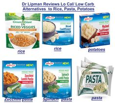 Cauliflower rice and zucchini noodles provide alternatives to high carb rice and pasta on a weight loss program. Each have the calories and carbs of their originals.Green Giant Rice veggies from…More Carb Replacement, Watermelon Nutrition Facts, Riced Veggies, Carb Alternatives, Veggie Pasta, Rice Pasta, Pasta Salad, Low Carb Vegetables, Low Carb Diet Plan