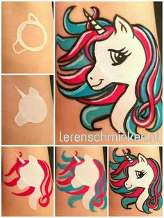 Unicorn face painting #facepaintingideas