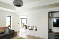 New Build In County Armagh Bungalow House Design, Modern Bungalow, House Designs Ireland, Armagh, Modern Farmhouse Exterior, Open Plan Kitchen, Kitchen Dining, House Roof, New Builds