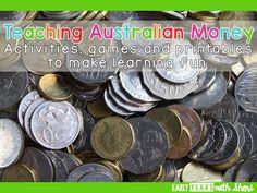 Teaching Australian money from Yr Teaching Money, Free Teaching Resources, Teaching Math, Classroom Resources, Teaching Ideas, Math Enrichment, Measurement Activities, Year 1 Maths, Australian Money