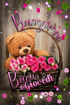 Good Morning, Teddy Bear, Wallpaper, Anime, Beautiful Things, Card Stock, Pictures, Buen Dia, Bonjour
