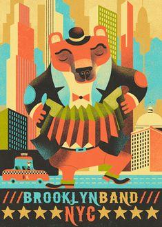Music Poster   Illustration Print by Gwen Keraval