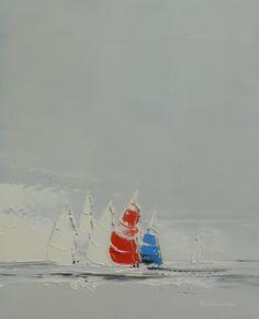 Dans le vent | 41 x 33 cm | Huile sur toile