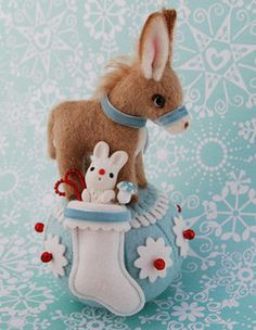 Little Christmas Donkey by lollihops, via Flickr