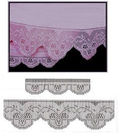 Barrados de crochê com lidas formas...para panos e toalhas.