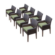 8 Napa Dining Chairs With Arms