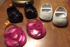 Teddys Build a Bear Honey Girl Pailletten Schuhe