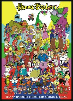 Hanna Barbera characters  (there are some obscure ones in there!)