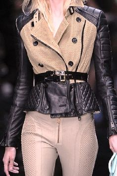 Burberry Leather Jacket and the leather pants ~~ WANT!