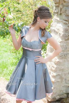 Kleid knielang mit bolero