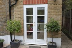 Looking for wooden French doors in London? We produce and install fully finished doors in and around the London area. Single French Door, Double French Doors, French Windows, Interior Window Trim, Double Doors Interior, Interior Barn Doors, Single Patio Door, Exterior Doors With Glass, Glass Doors