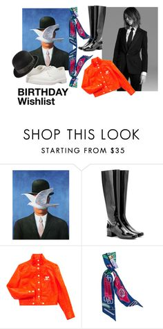 """birthday wishlist"" by eugeniepen ❤ liked on Polyvore featuring Yves Saint Laurent, Courrèges, Hermès and Dr. Martens"