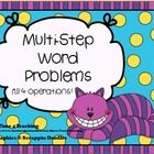 Being able to solve word problems takes practice, practice, practice!  This activity has 48 word problem task cards to give your students the opportunity to stretch their powers of thinking and reasoning.  Perfect for math centers, small groups, or even whole class activities!  $
